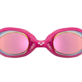 arena Spider Mirror Goggles Juniors white-pink-fuchsia